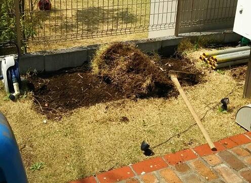 レンガで花壇を作るDIY作り方