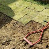 芝生を自分で植える準備