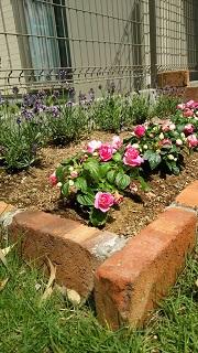 簡単にレンガで花壇を作り方